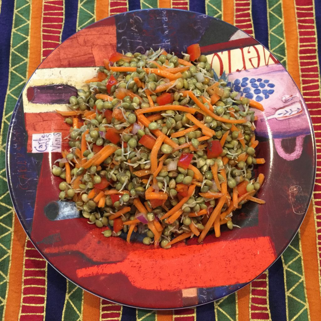 Easy Sprouted-Lentil Salad Recipe